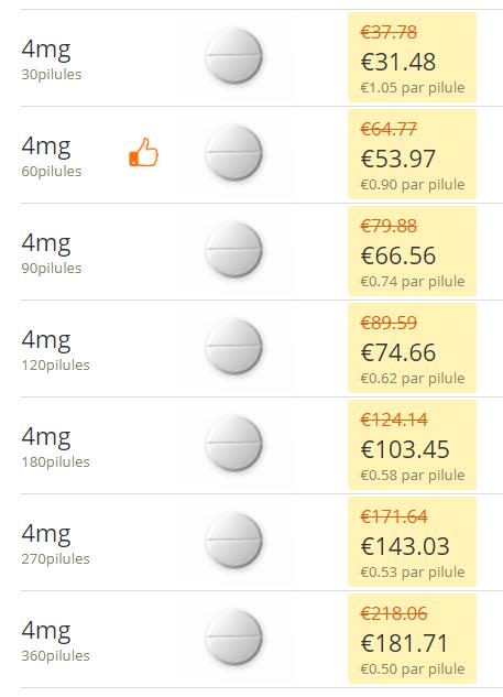 Brethmol 4 mg prix