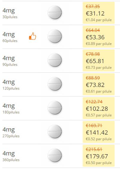 Bronkotab EX 4 mg PRIX