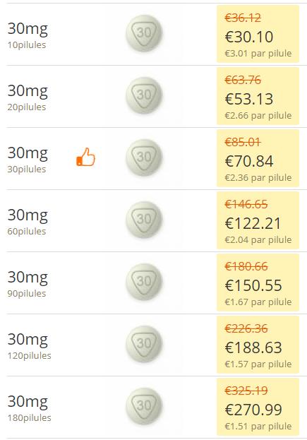 Poxet 30 prix